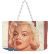 True Blue Marilyn In Flag Weekender Tote Bag