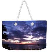 True Blue Sunset Weekender Tote Bag