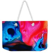 True Colors - Vibrant Pink And Blue Painting Art Weekender Tote Bag