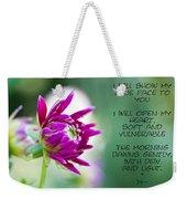 True Face - Poem - Flower Weekender Tote Bag