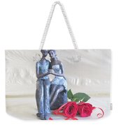 True Love In Silver Weekender Tote Bag