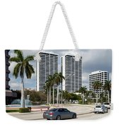 Trump Plaza In Downtown West Palm Beach Skyline Weekender Tote Bag