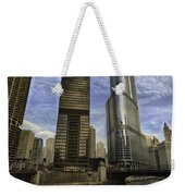 Trump Tower And River Front Weekender Tote Bag