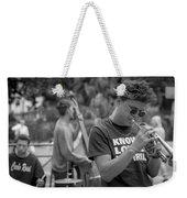 Trumpet In The Big Easy Weekender Tote Bag by David Morefield