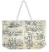 Trumpet Patent Drawing Weekender Tote Bag