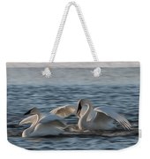 Trumpeter Swans Playing Tag Weekender Tote Bag