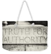 Truth For Authority Lucretia Mott  Weekender Tote Bag