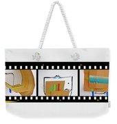 Tsunami Strip Weekender Tote Bag
