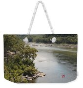 Tubing On The Potomac River At Harpers Ferry Weekender Tote Bag