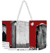 Tucson Skyline 1 - Dark Red Weekender Tote Bag