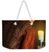 Tudor Man With Candle Weekender Tote Bag