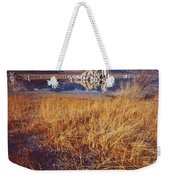 Tufa And Frozen Grass-sq Weekender Tote Bag