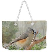 Tuffted Titmouse Early Spring Weekender Tote Bag