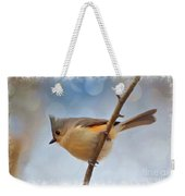 Tufted Titmouse - Digital Paint II With Frame Weekender Tote Bag