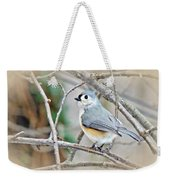 Tufted Titmouse - Baeolophus Bicolor Weekender Tote Bag