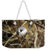 Tufted Titmouse On The Watch Weekender Tote Bag