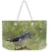 Tufted Titmouse With Decorations II Weekender Tote Bag