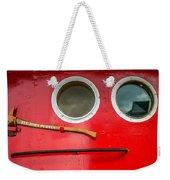 Tug Boat Eyes Weekender Tote Bag