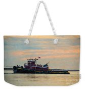 Tug Boat Hard At Work Weekender Tote Bag