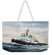 Tugboat Island Champion Weekender Tote Bag by James Williamson