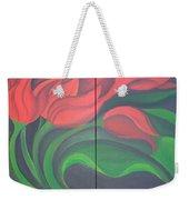 Tulip Diptych Weekender Tote Bag