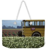 Tulip Field With Bus Weekender Tote Bag