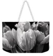 Tulip Flowers Black And White Weekender Tote Bag