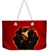 Tulip On Black Weekender Tote Bag