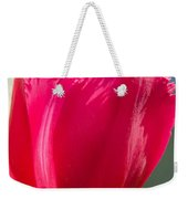 Tulip On The Gray Background Weekender Tote Bag