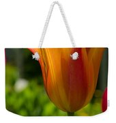 Tulip On The Green Background Weekender Tote Bag by Michael Goyberg