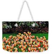 Tulip Stripe Garden Weekender Tote Bag