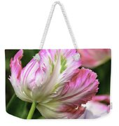 Tulip Time Pink And White Weekender Tote Bag