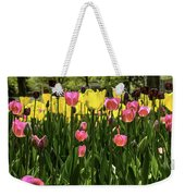 Tulip Time Pink Yellow Black Beauty Weekender Tote Bag