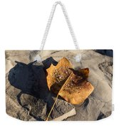 Tulip Tree Leaf - Frozen Raindrops In The Sunshine Weekender Tote Bag