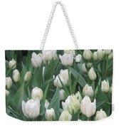 Tulip White Show Flower Butterfly Garden Weekender Tote Bag