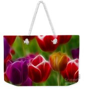 Tulips-7022-fractal Weekender Tote Bag