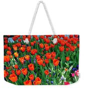 Tulips Are A Turkish Flower Bytopkapi Palace In Istanbul-turkey Weekender Tote Bag