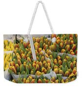 Tulips For Sale In Market, Close Up Weekender Tote Bag
