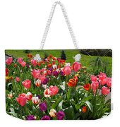 Tulips Garden Art Prints Colorful Spring Floral Weekender Tote Bag