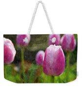 Tulips In Digital Watercolor Weekender Tote Bag