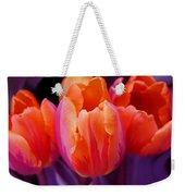 Tulips In Orange And Purple Weekender Tote Bag