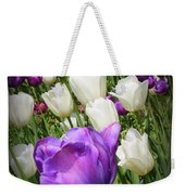 Tulips In Purple And White Weekender Tote Bag