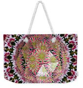 Tulips Kaleidoscope Under Polyhedron Glass Weekender Tote Bag