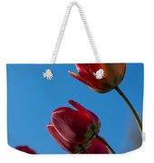 Tulips On Blue Weekender Tote Bag