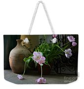 Tulips With Earthenware Jar And Wrought Iron Weekender Tote Bag