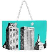 Tulsa Skyline - Aqua Weekender Tote Bag