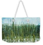 Tundra Forest Weekender Tote Bag by Priska Wettstein