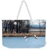 Tundra Swan Flight Weekender Tote Bag