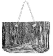 Tunnel Of Trees Black And White Weekender Tote Bag