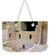 Tunnel Opening In Kiva Of Spruce Tree House On Chapin Mesa In Mesa Verde National Park-colorado  Weekender Tote Bag